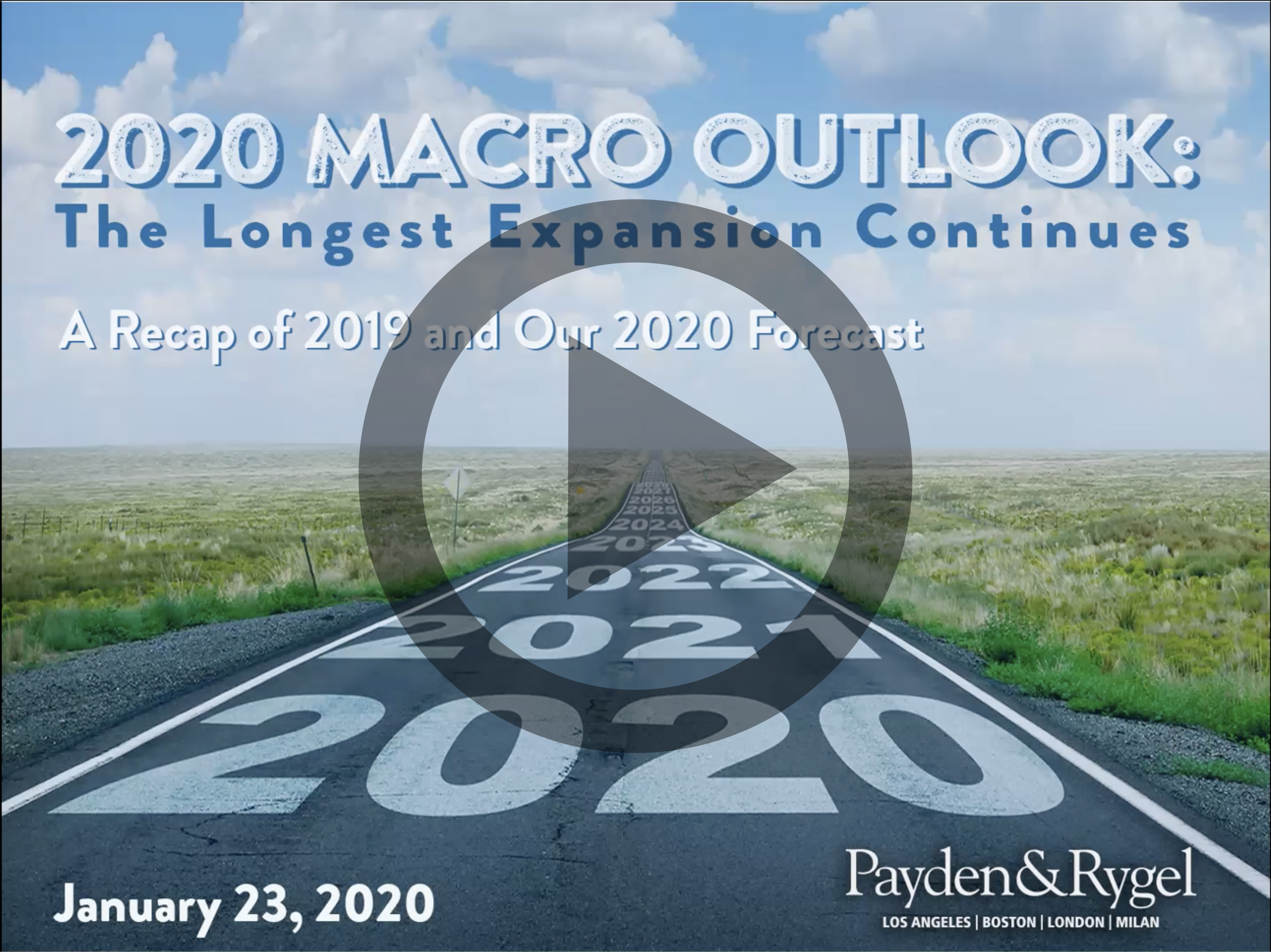 2020 Macro Outlook: The Longest Expansion Continues